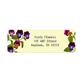 Pansies and Violas Customizable Labels