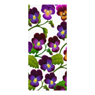 Pansies and Violas Floral Bookmark Rack Card