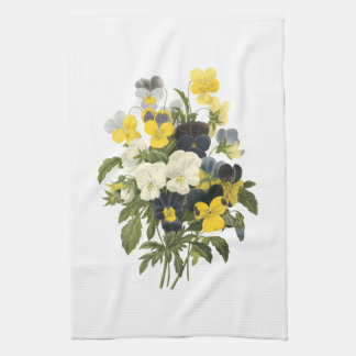 Pansies and Violets Viintage Art Kitchen Towels