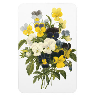 Pansies and Violets Viintage Art Magnet