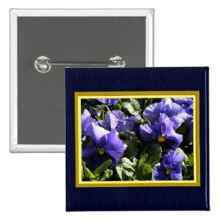 Pansies: Blue Violet Pins