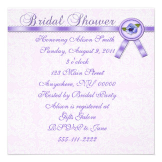 Pansies Bridal Shower Invitation