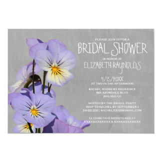 Pansies Bridal Shower Invitations