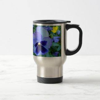 Pansies - CricketDiane Floral Commuter Coffee Mug Stainless Steel Travel Mug