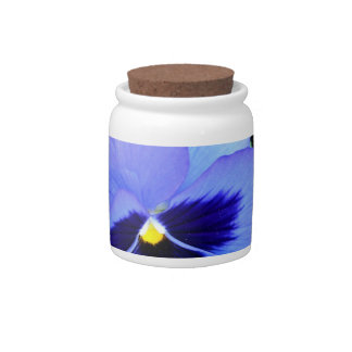 Pansies CricketDiane Photographic Floral Candy Jar