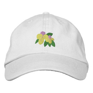 Pansies Embroidered Hat