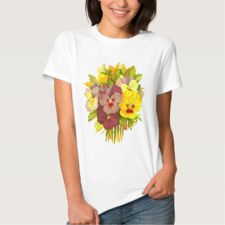 Pansies Floral Retro Vintage Composition Shirt