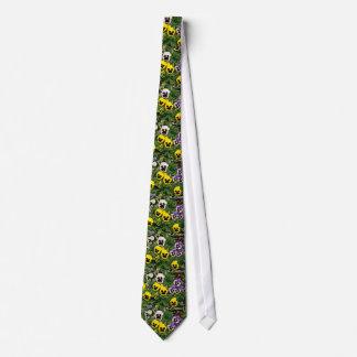 Pansies  flowers neck tie