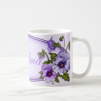 Pansies for Grandma Mugs