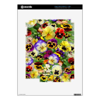 Pansies for You iPad 2 Wi-Fi Wi-Fi + 3G Decals For The iPad 2