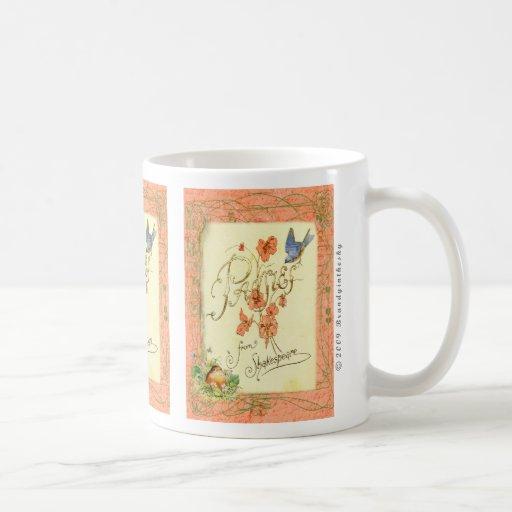 Pansies from Shakespeare Collage Art Mug
