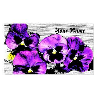 pansies gardening business card