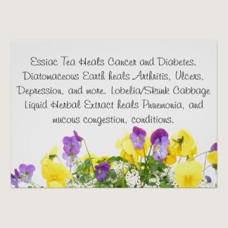 Pansies Health Tips Poster