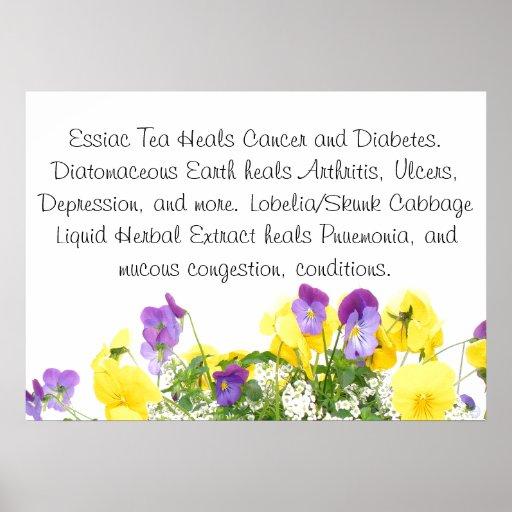 Pansies Health Tips Poster