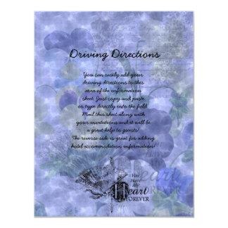Pansies Heart Wedding Informational Sheet Card