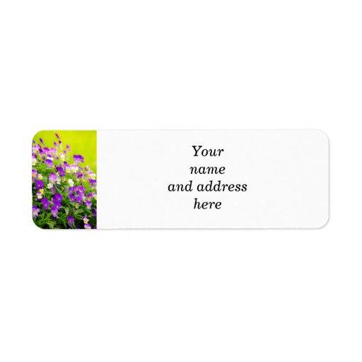 Pansies Custom Return Address Labels