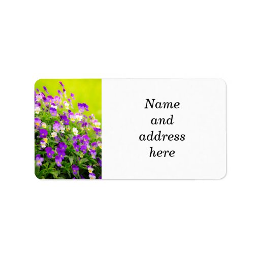Pansies Personalized Address Labels