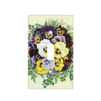 Pansies Light Switch Cover
