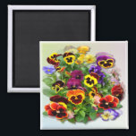 """PANSIES  ~ Magnet<br><div class=""""desc"""">Another pretty Pansy product for you to enjoy,  do have a look at the other products in this colorful Pansy  Series.</div>"""