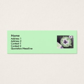 Pansies Mini Business Card
