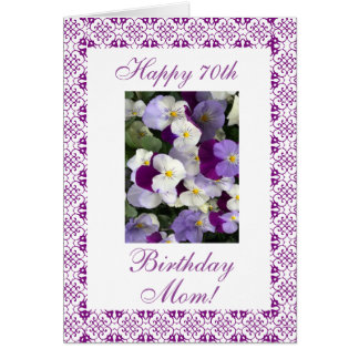 Pansies - Mother's 70th birthday Card