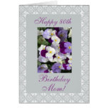 Pansies - Mother's 80th birthday Greeting Card