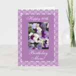"Pansies - Mother's birthday Card<br><div class=""desc"">Greeting card for mom"