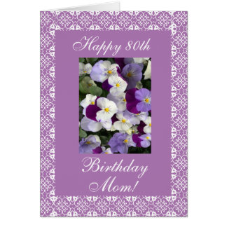 Pansies - Mother's birthday Card