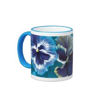 Pansies mug