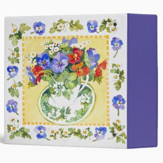 Pansies - nasturtiums 2013 binders