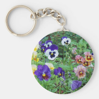 Pansies of summer keychain