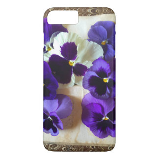 Pansies on an old book iPhone 7 plus case
