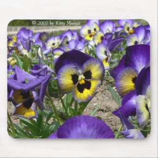 Pansies on Parade Mouse Pad