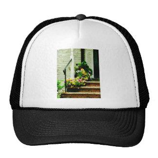 Pansies on Steps Trucker Hat