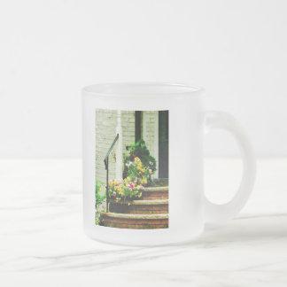 Pansies on Steps Coffee Mug