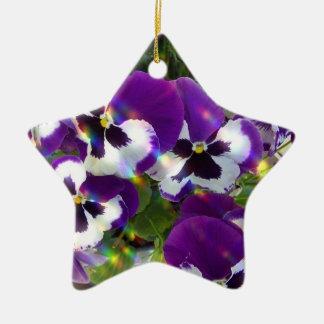 Pansies Ornament