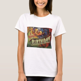 Pansies Pansy Rainbow Flowers Floral T-Shirt