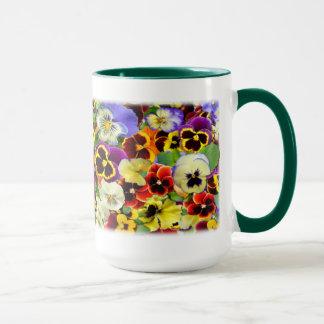 Pansies ~ Ringer Mug