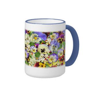 Pansies ~ Ringer Mug # 3