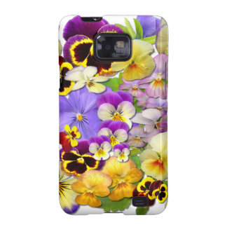 Pansies Samsung Galaxy S Case Samsung Galaxy S2 Covers