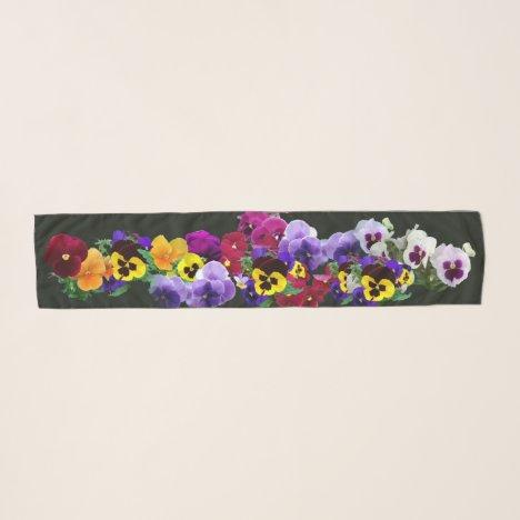 pansies scarf