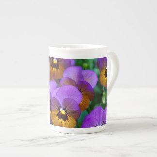 Pansies Tea Cup