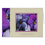 Pansies Thank You Note Cards