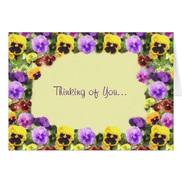 linda_mn Pansies Watercolor Card