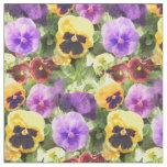 Pansies Watercolor Fabric