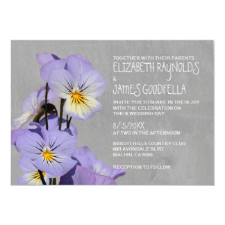 Pansies Wedding Invitations
