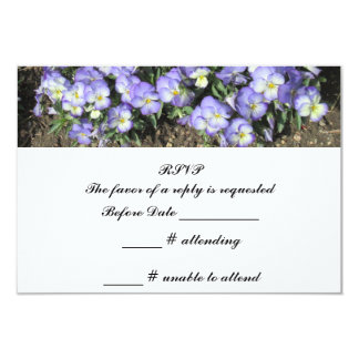 Pansies Wedding RSVP Reply Announcement