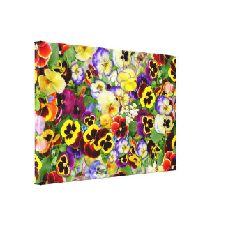 Pansies ~ Wrapped Canvas Print