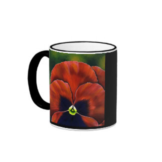 Pansy2 Ringer Coffee Mug