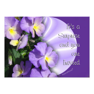 Pansy 1023 Invitation-customize any occasion